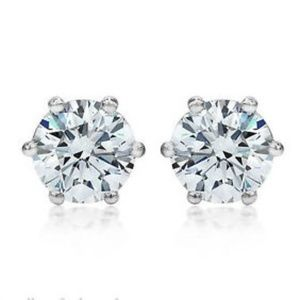 Jewelry - 1.5 CT Diamond AAA CZ Earring 925 Sterling Silver